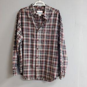 Columbia Plaid Button Down Flannel Shirt